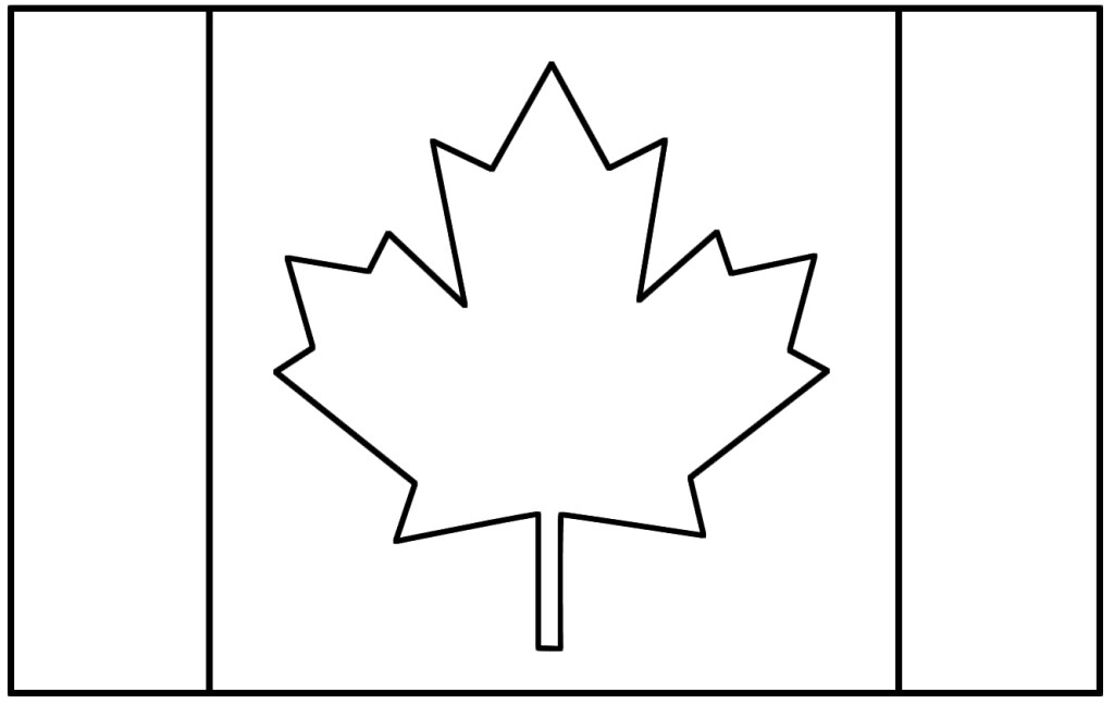 canada flag coloring page - clipart KinMA4yXT