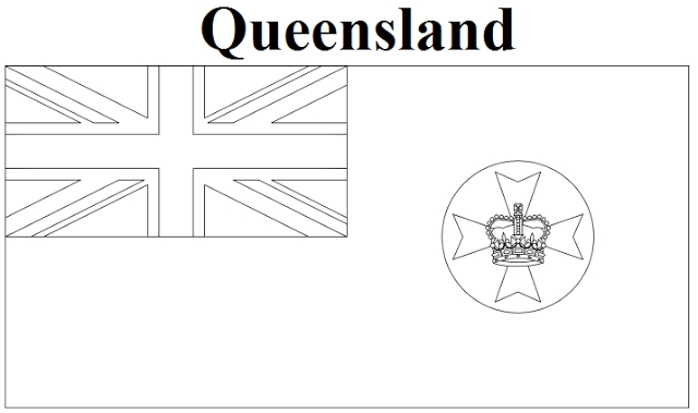 canada flag coloring page - queensland flag coloring page state of australia