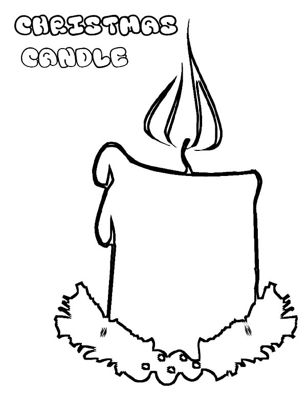candle coloring page - candle coloring page