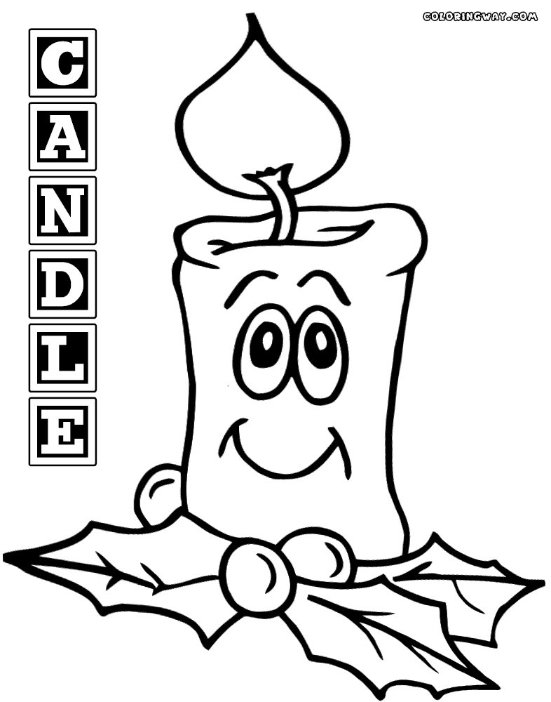 candle coloring page - candle coloring pages