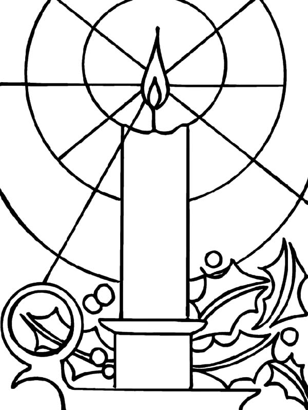 candle coloring page - candle light coloring pages