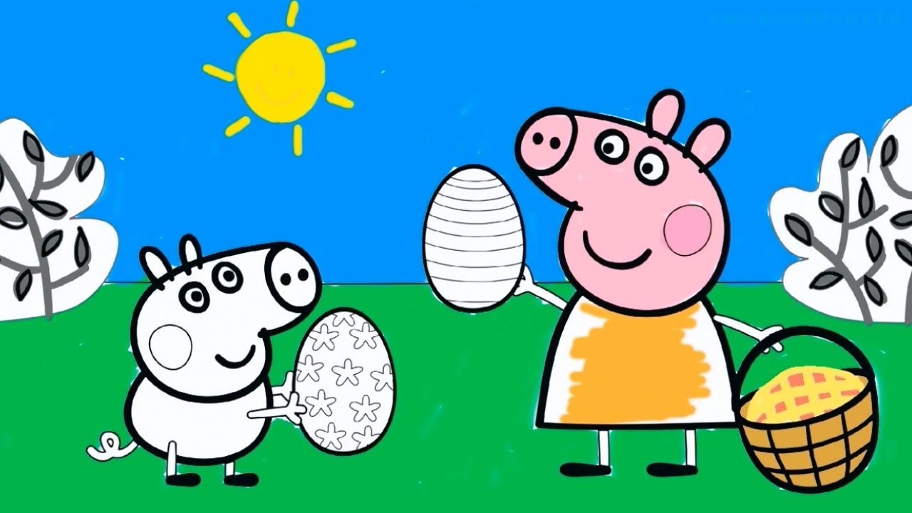 candy coloring pages - peppa pig coloring