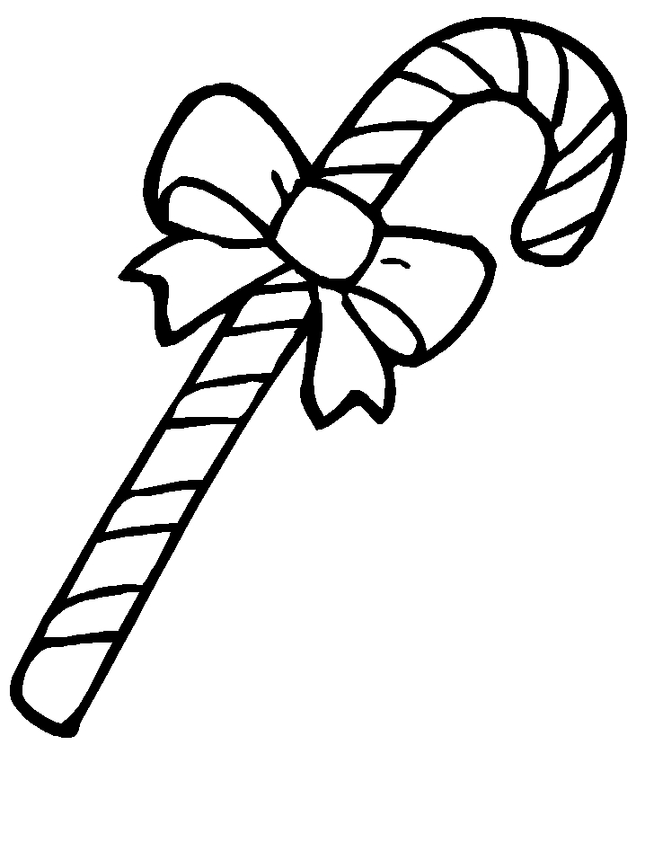 candy coloring pages - zuckerstange