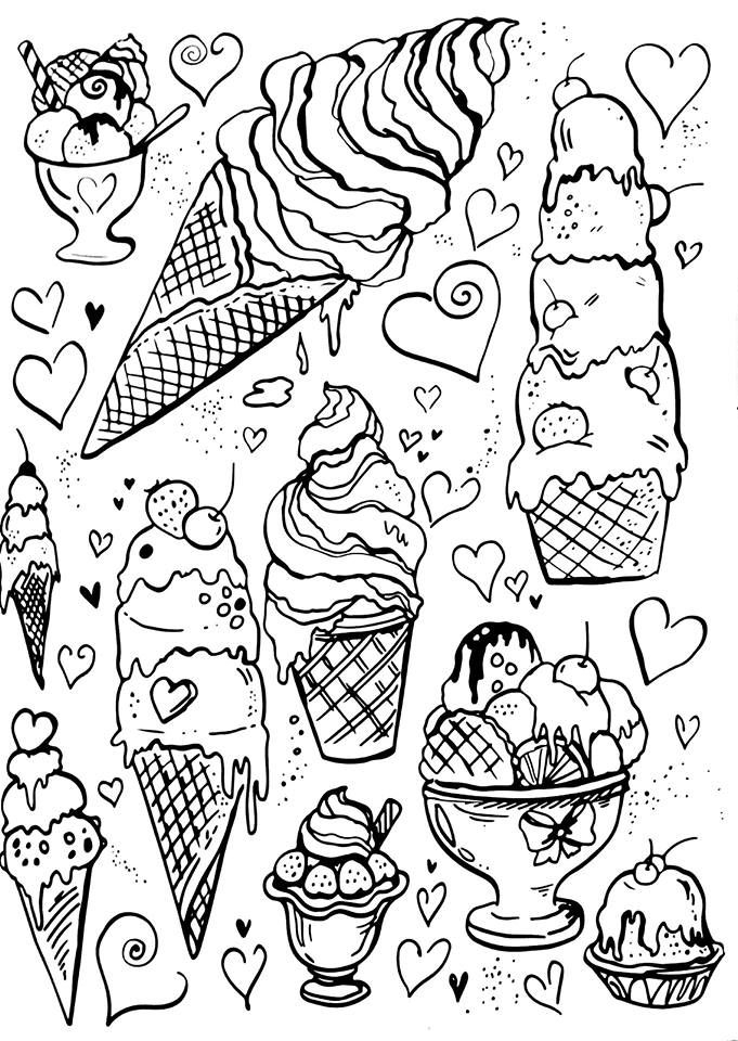 candy corn coloring page - ice cream coloring pages