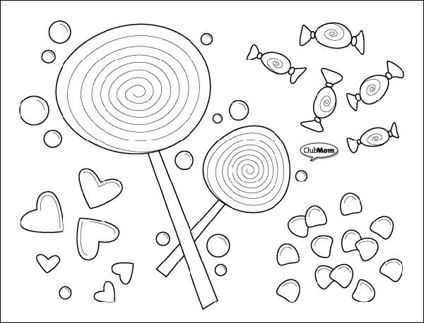 candy corn coloring page - clubmomcoloringcandy