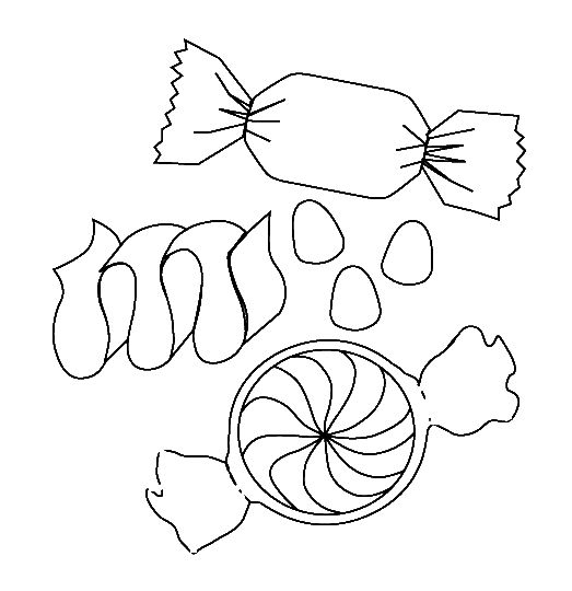 candy corn coloring page - candy coloring pages