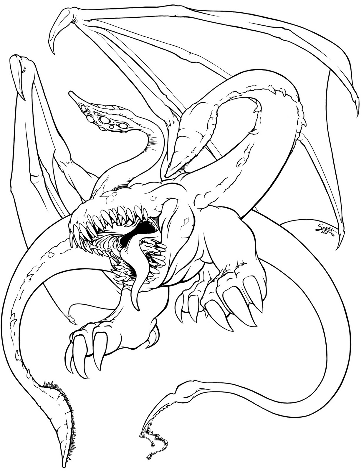 candy skull coloring pages - dibujo dragon para colorear