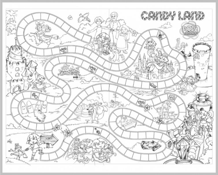 candyland coloring pages -