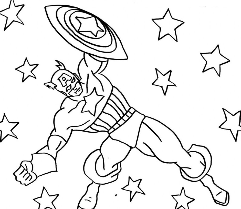captain america coloring pages - 8 free cartoon captain america coloring