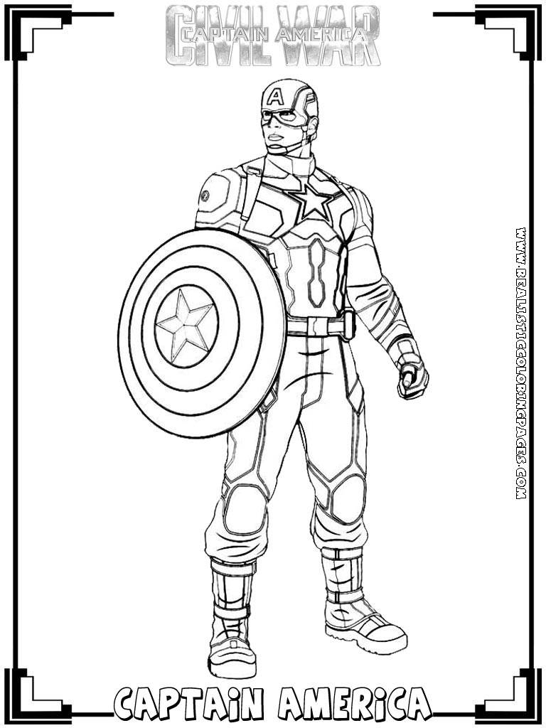 28 Captain America Coloring Pages Images | FREE COLORING PAGES - Part 3