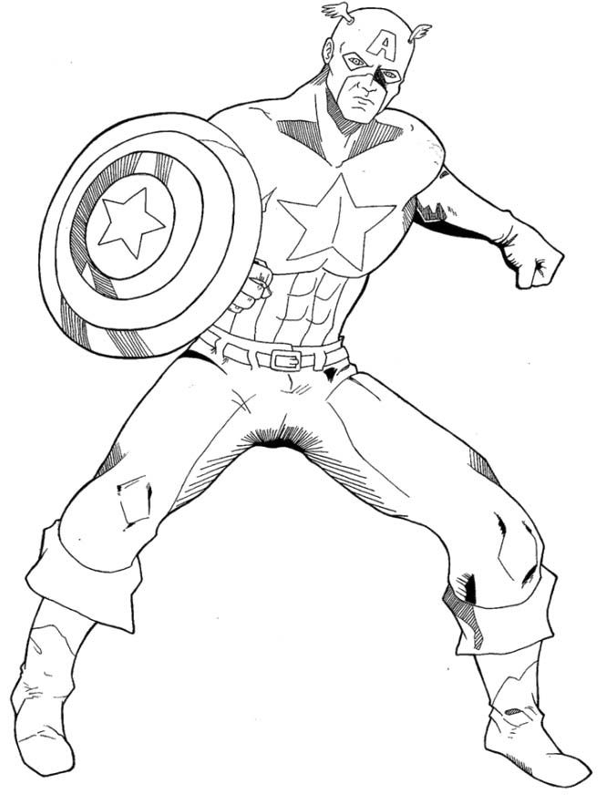 captain america coloring pages - captain america coloring page