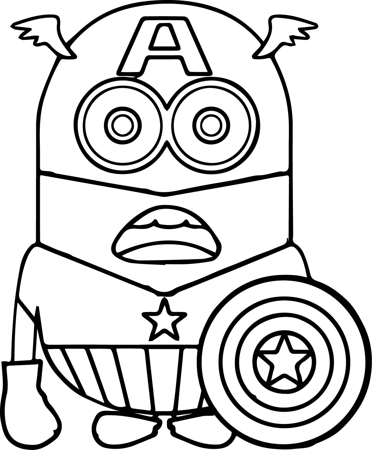 captain america coloring pages - captain america