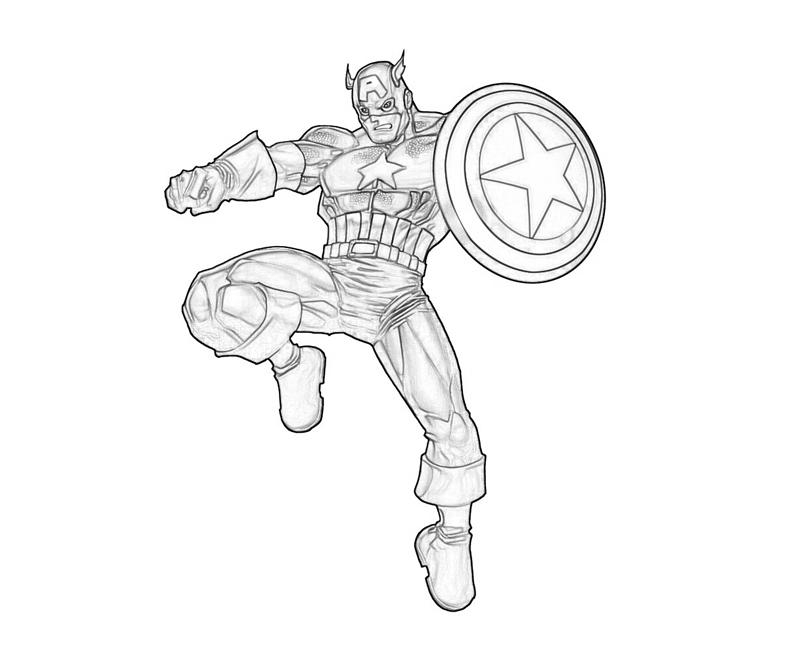 Captain America Coloring Pages - Free Printable Captain America Coloring Pages for Kids