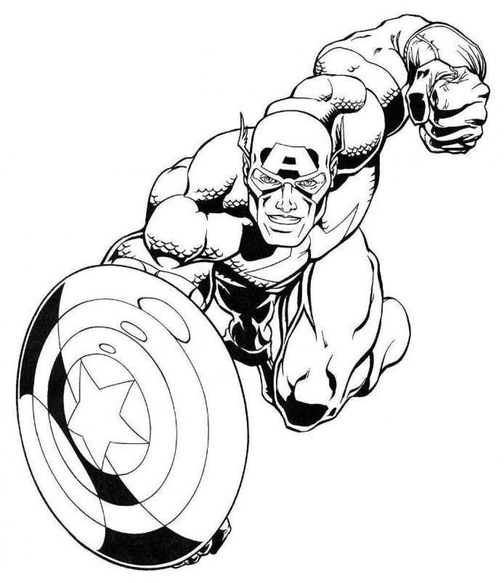 captain america coloring pages - printable captain america coloring pages