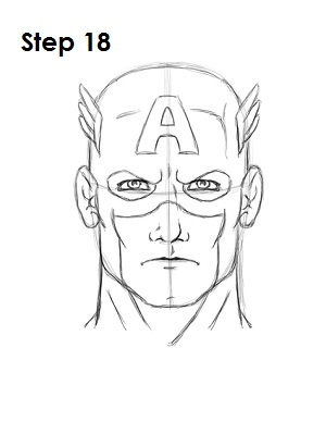 captain america shield coloring page - 152 draw captain america start=3