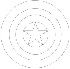 captain america shield coloring page -
