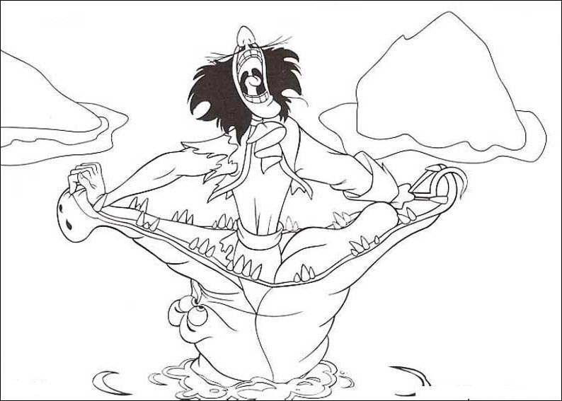 captain hook coloring pages - 488