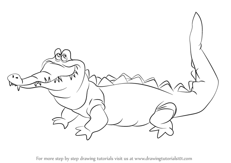 captain hook coloring pages - how to draw the crocodile from peter pan