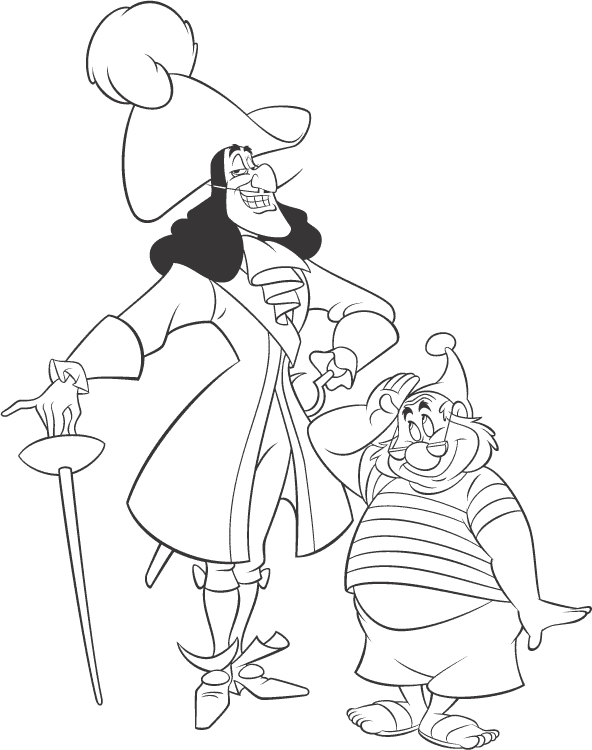 Captain Hook Coloring Pages - Print It