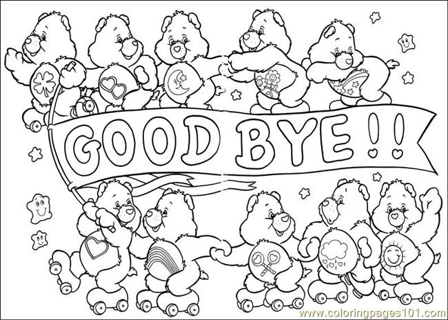 care bear coloring pages - Care Bears 55