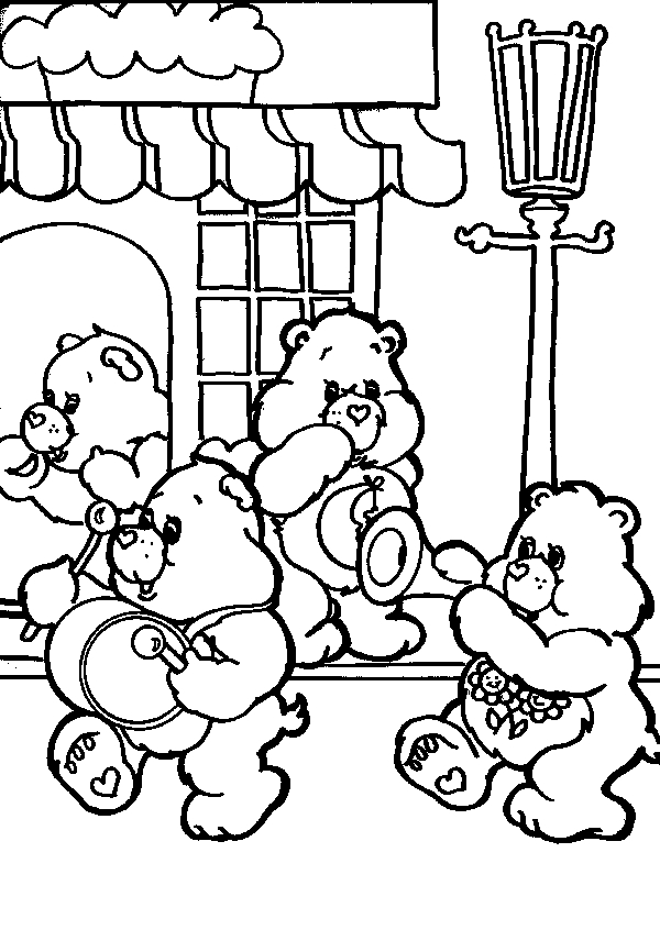 care bear coloring pages - kc009a