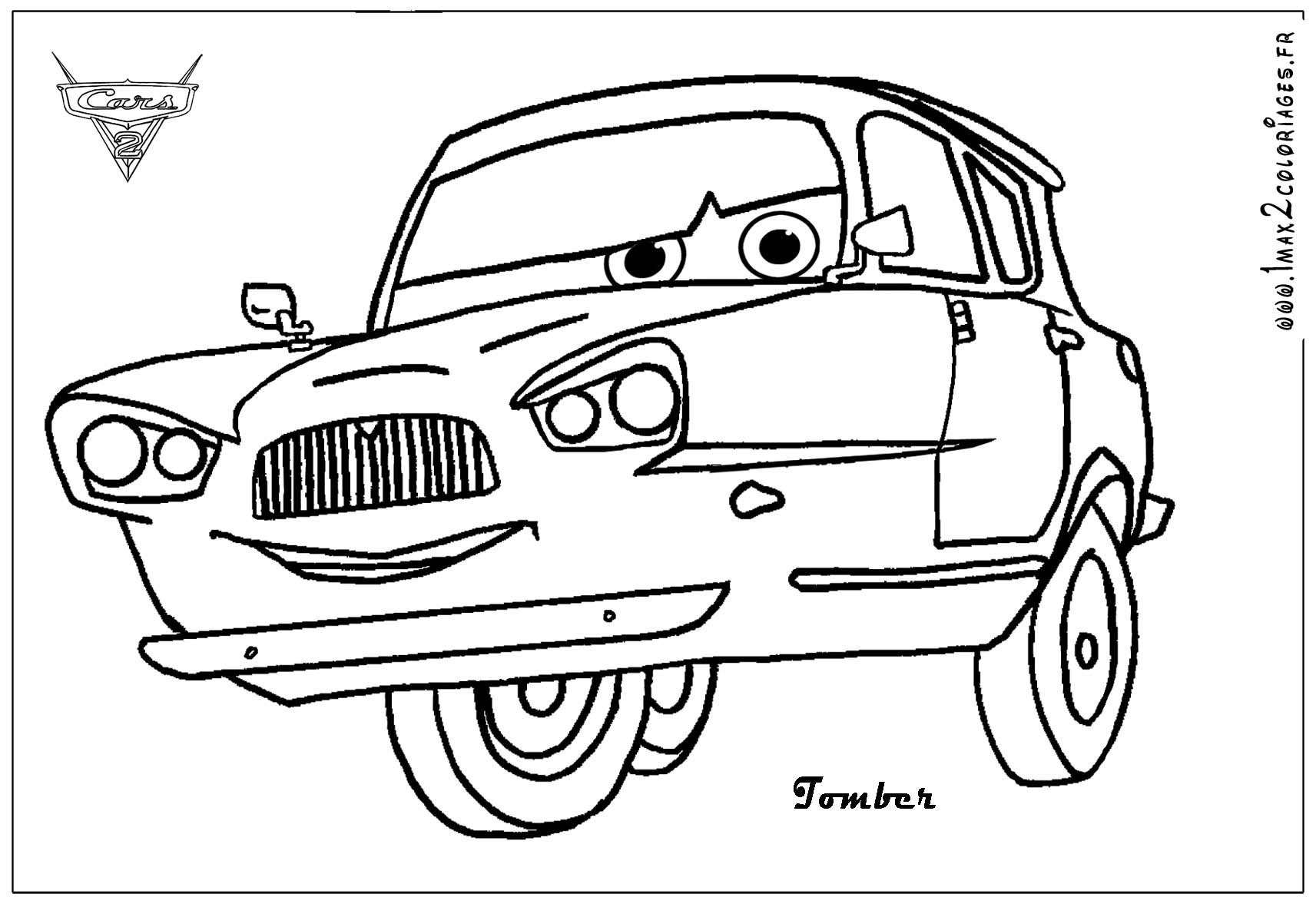 cars 2 coloring pages - cars and cars 2 coloring pages