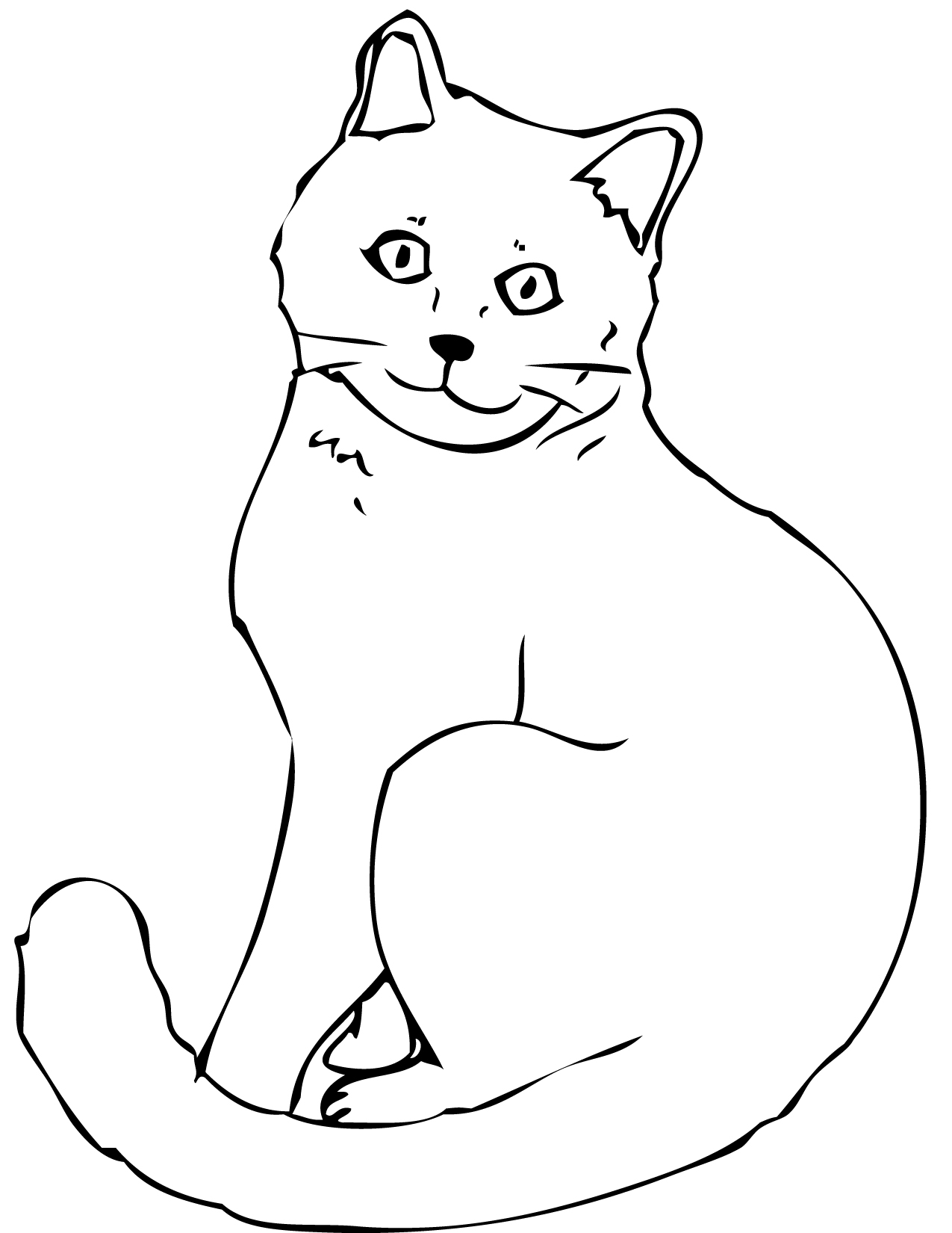 Cat Coloring Pages - Cat Coloring Pages Free