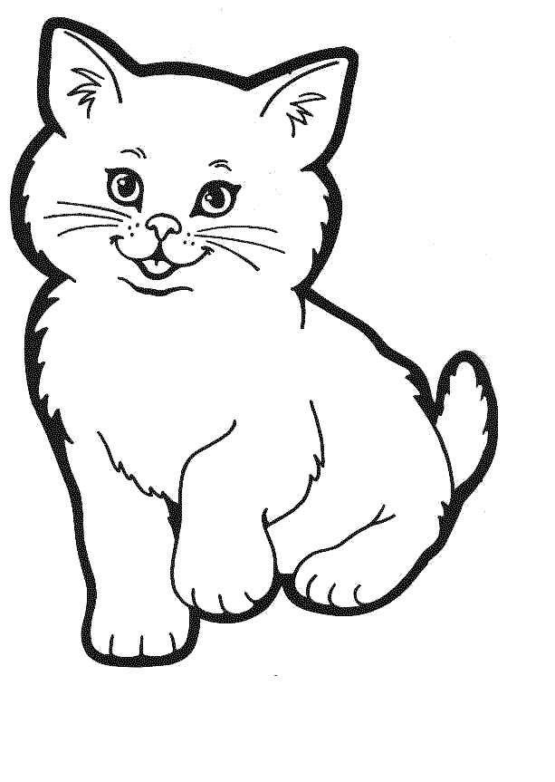 cat coloring pages - kitty cat coloring pages