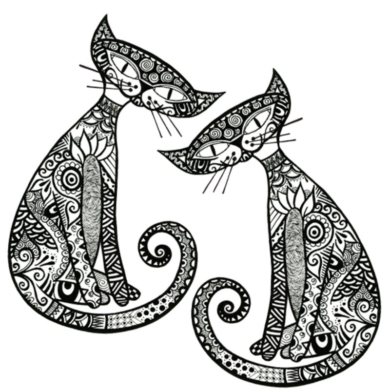cat coloring pages for adults - czesc2
