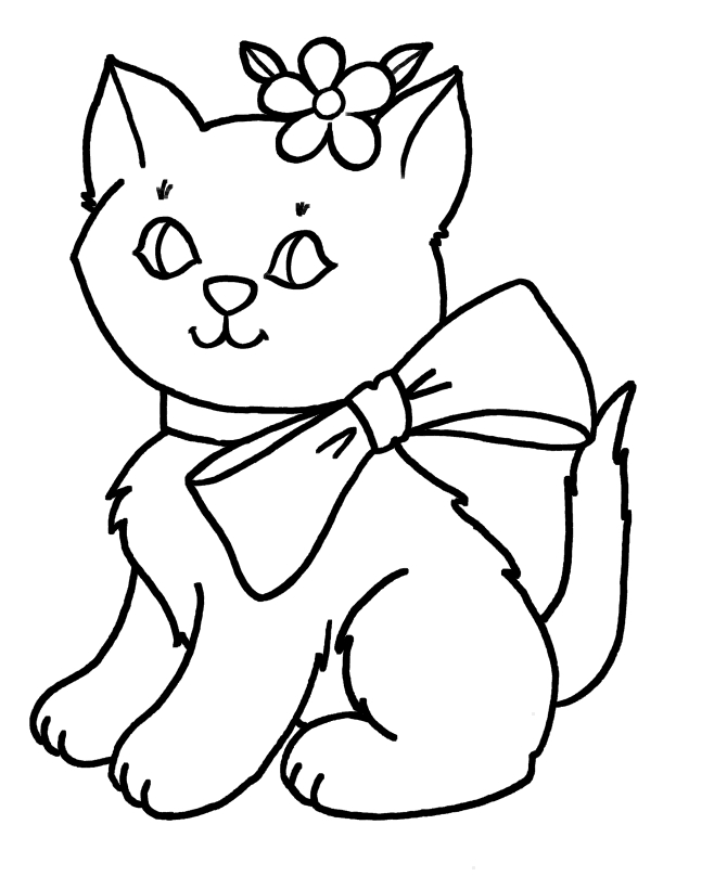 Cat Coloring Pages Free Printable - Cat Color Pages Coloring Home