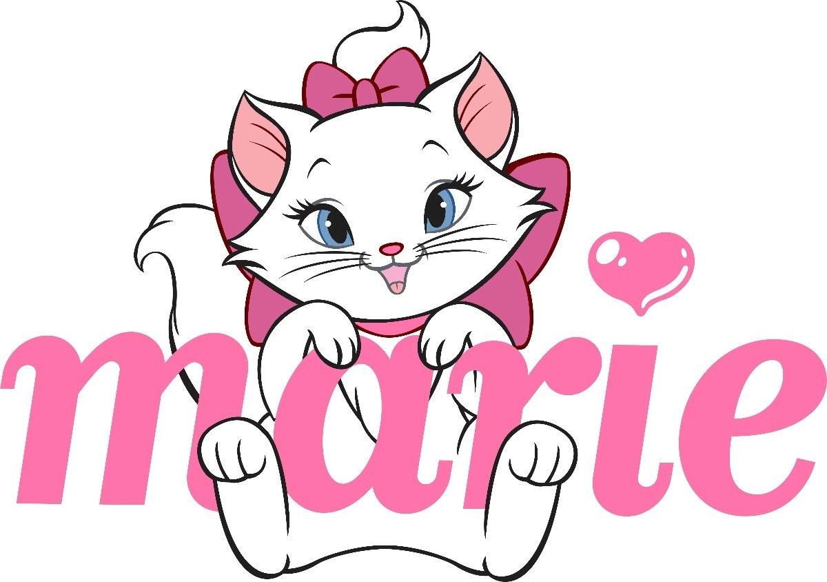 cat coloring pages printable - Drawn kitten marie