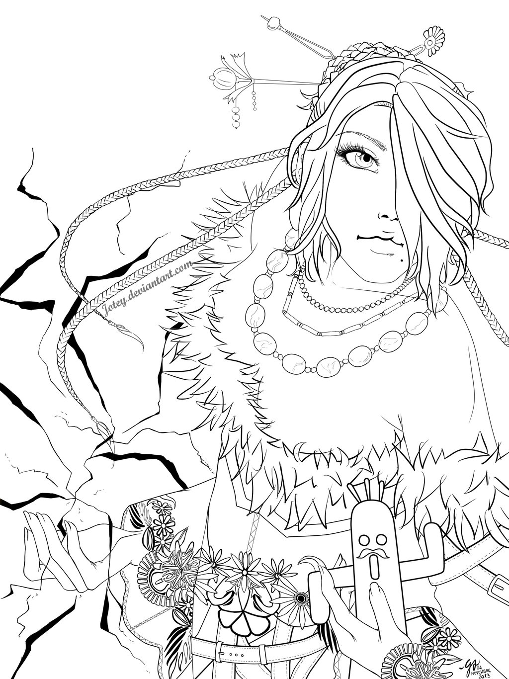 catboy coloring pages - final fantasy