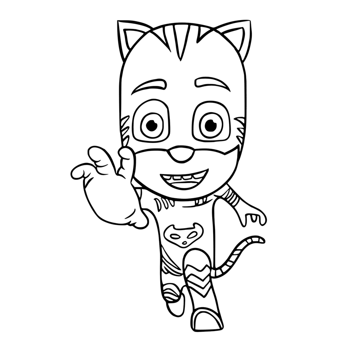 Catboy Coloring Pages - Pj Masks Coloring Pages to and Print for Free