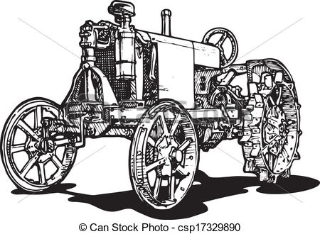 caterpillar coloring page - tractor