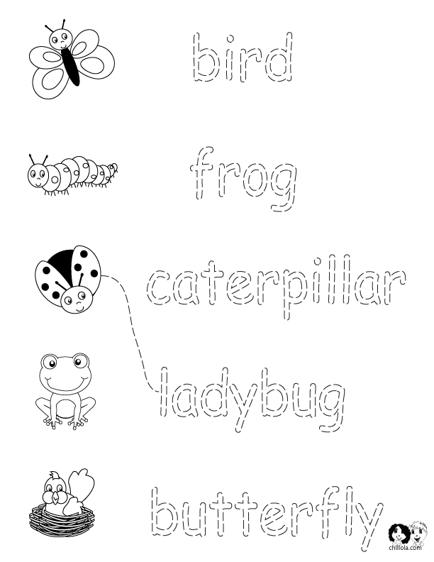 Caterpillar Coloring Page - Worksheets English Spring