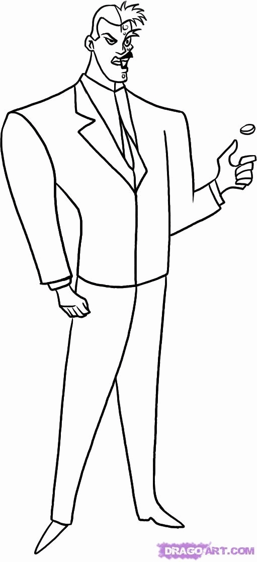 catwoman coloring pages - batman two face coloring pages