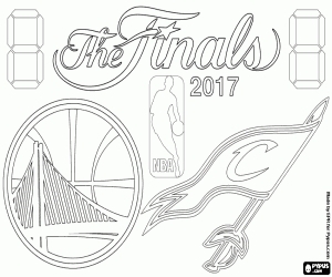 cavs coloring pages - basketball championships coloring pages