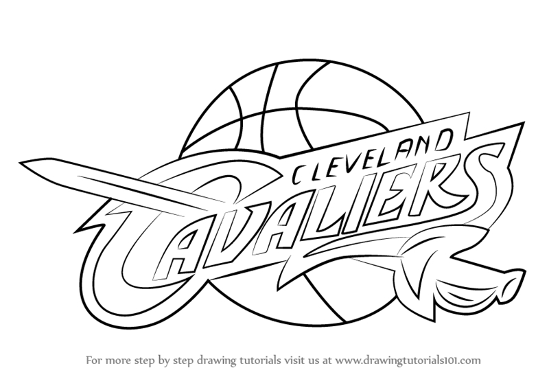 Cavs Coloring Pages - Cleveland Cavaliers Art Coloring Pages