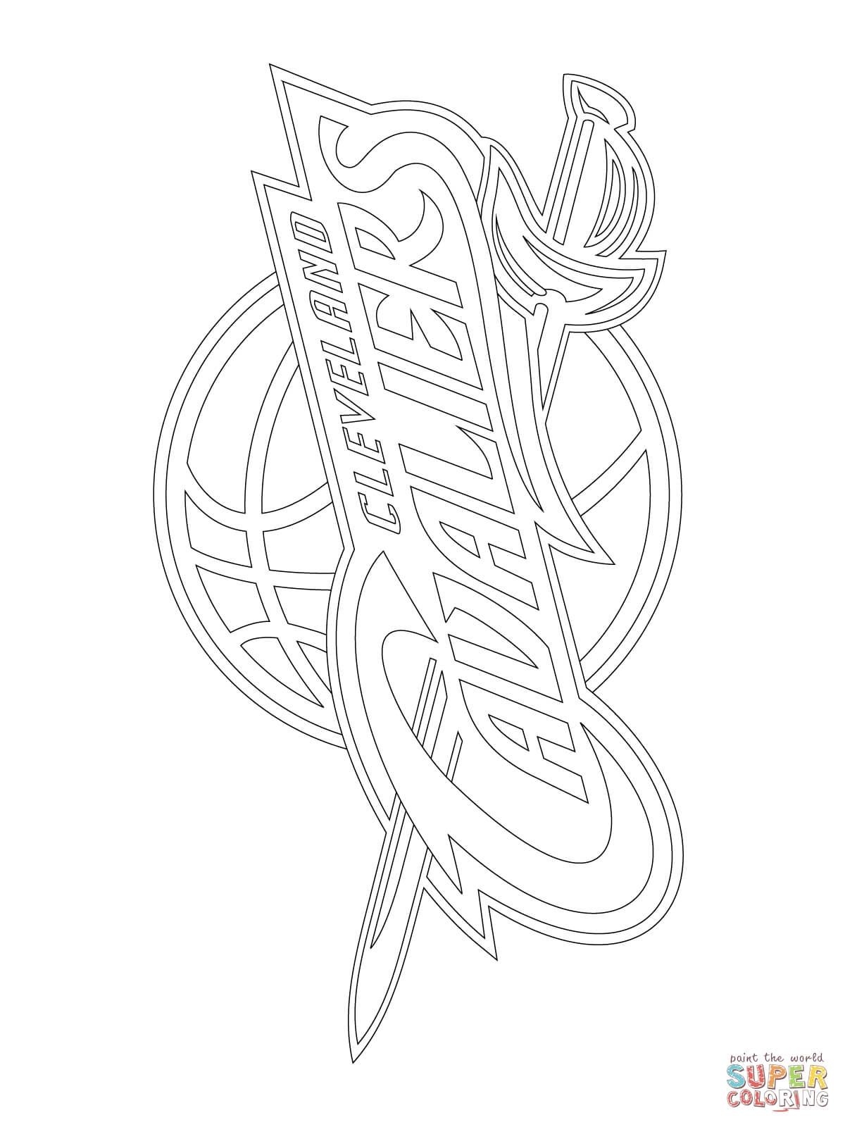 cavs coloring pages - cleveland cavaliers logo