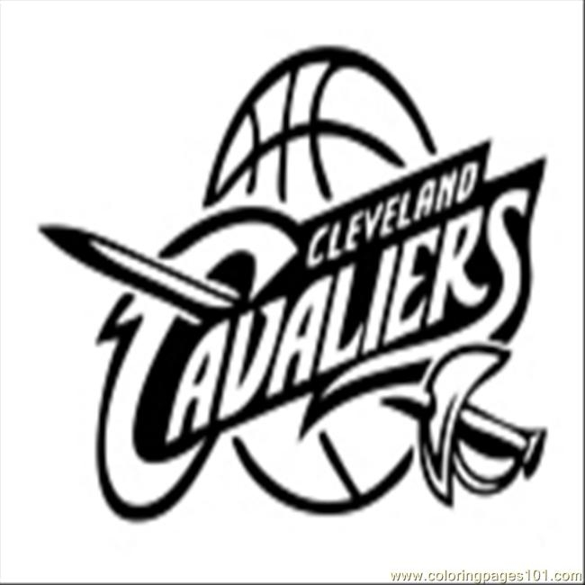 cavs coloring pages - 40 Cleveland Cavs Coloring Page