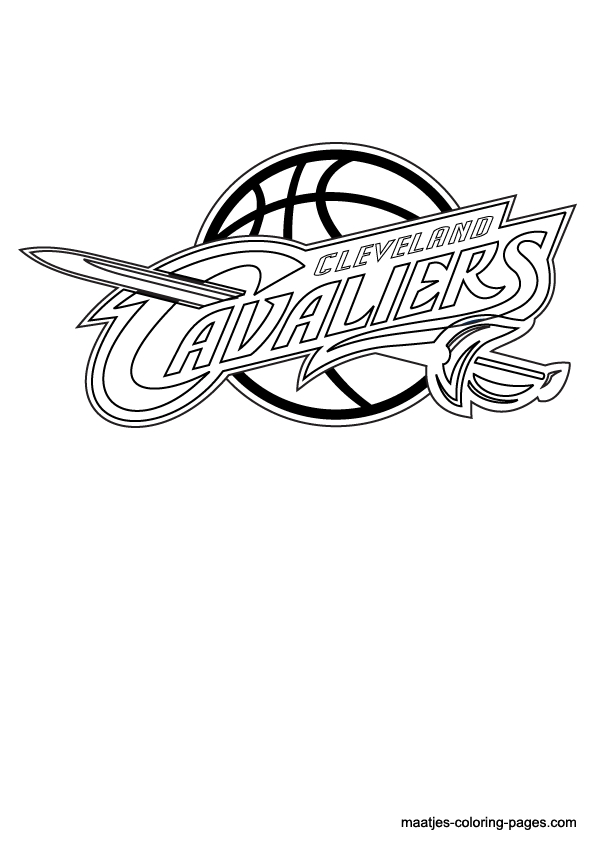 cavs coloring pages - cleveland cavaliers nba coloring pages 01