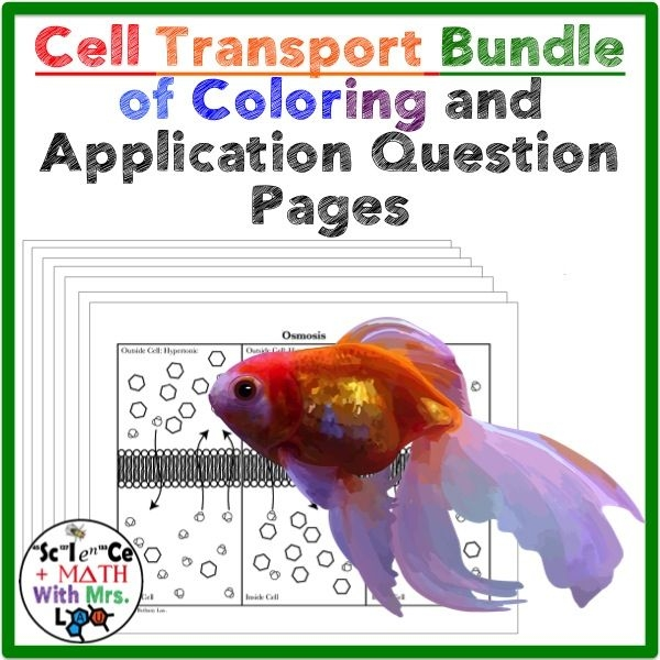cell coloring page -