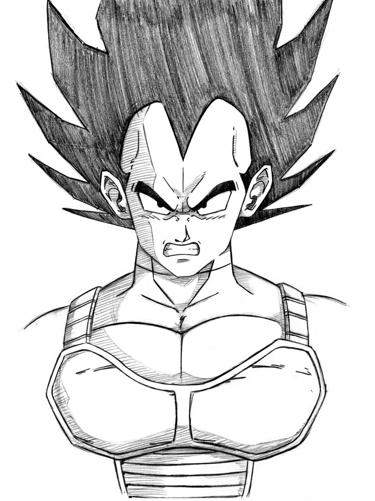 cell coloring page - DBZ Ve a Sketch