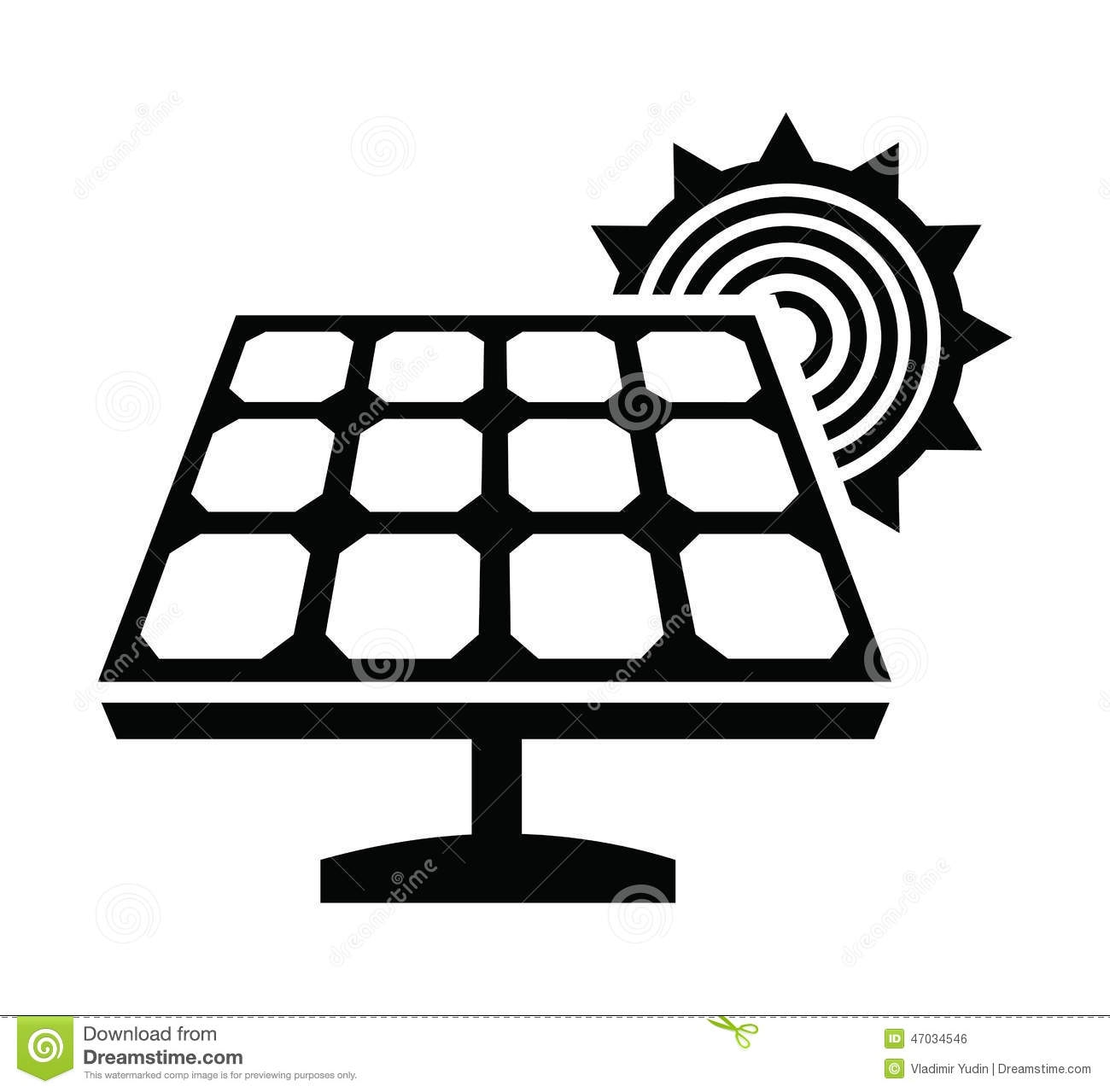 cell coloring page - stock illustration solar panel icon vector black white background image