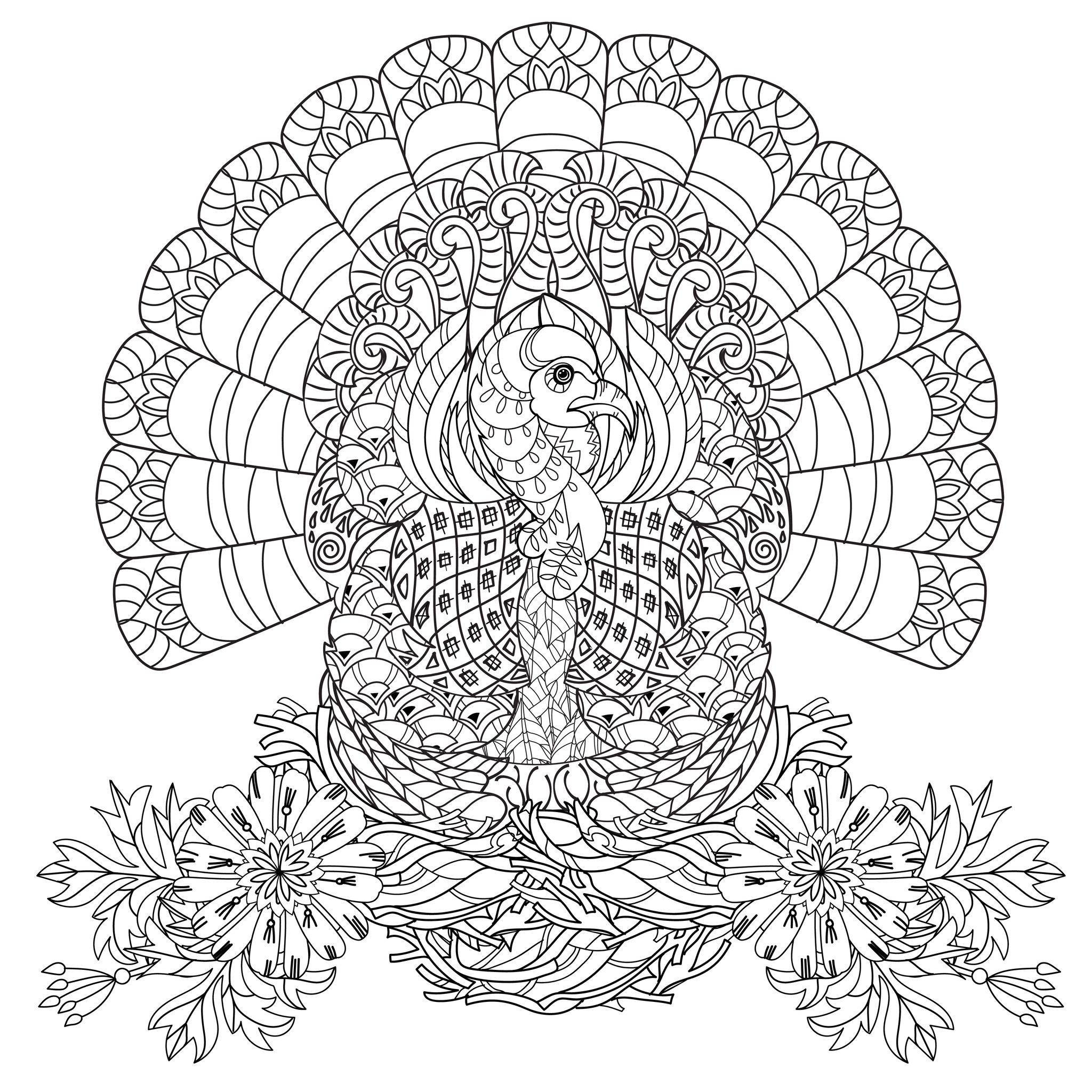 cell coloring page - thanksgiving coloring pages for adults