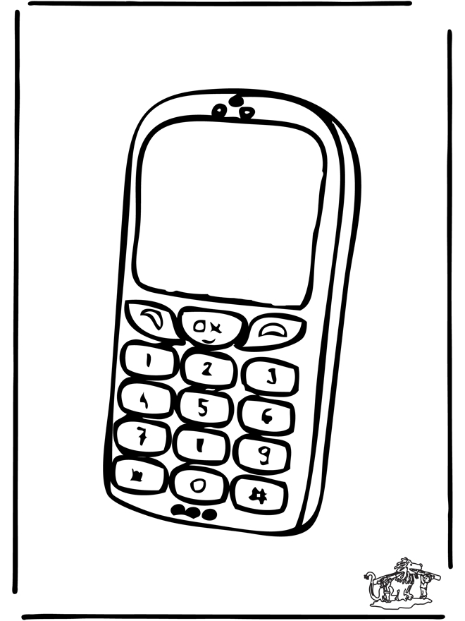 20 cell phone coloring page pictures