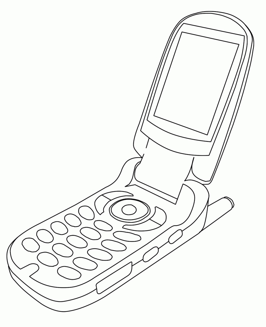 20 Cell Phone Coloring Page Pictures | FREE COLORING PAGES