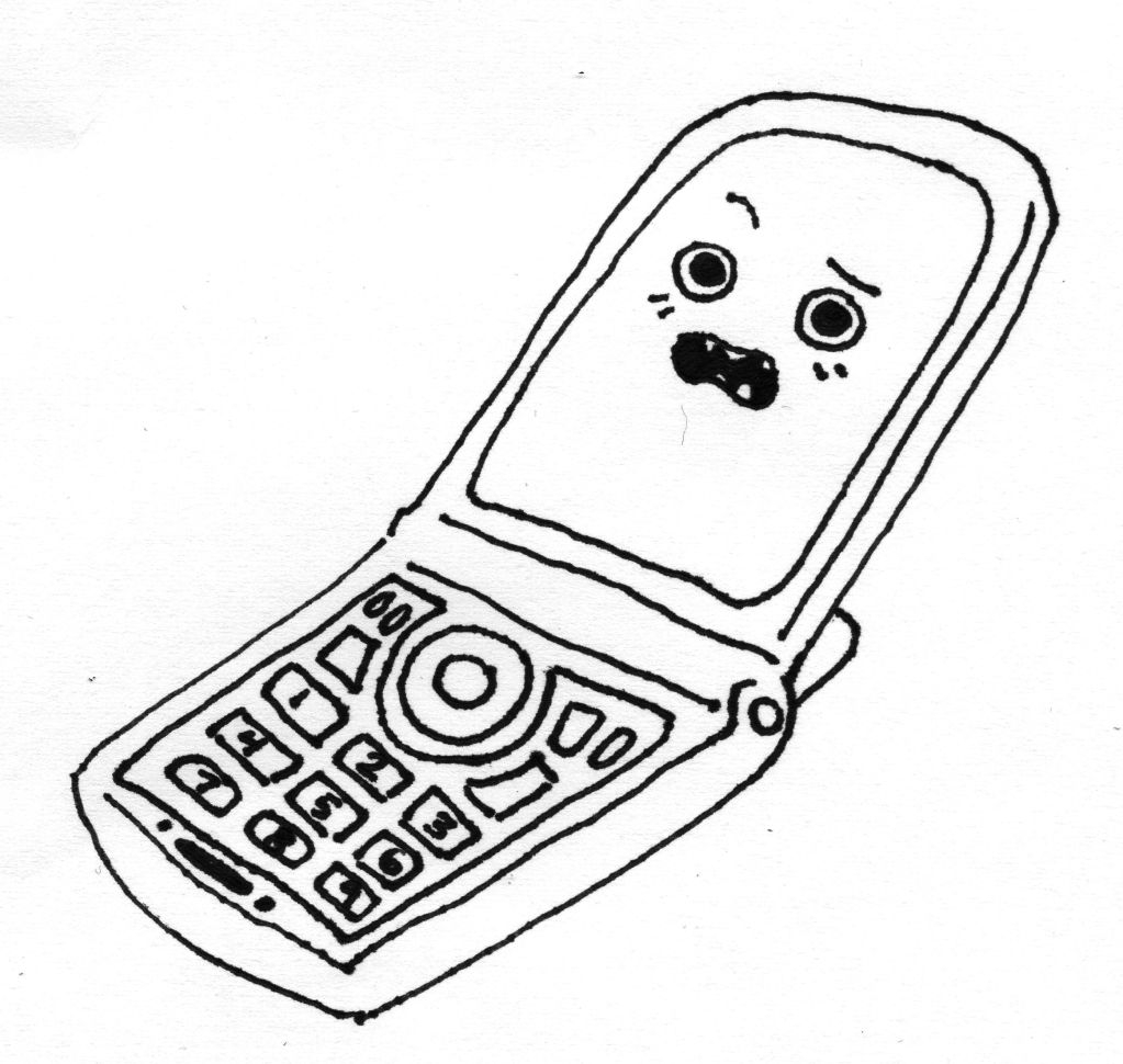 cell phone coloring page - cell phone coloring pages