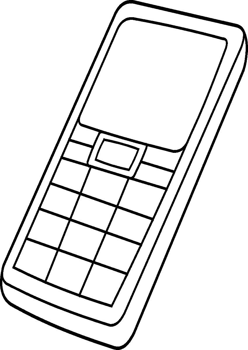 Cell Phone Coloring Page - Cell Phone Coloring Pages Coloring Home