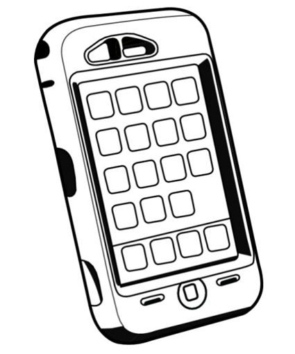 cell phone coloring page - CellPhonesColoringPages